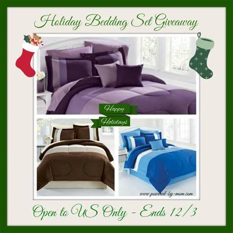 brylane home bedding set for the holidays giveaway ends