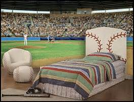Football Stadium Wallpaper For Bedrooms Baseball Bedroom Boys Baseball Theme Decorating Ideas