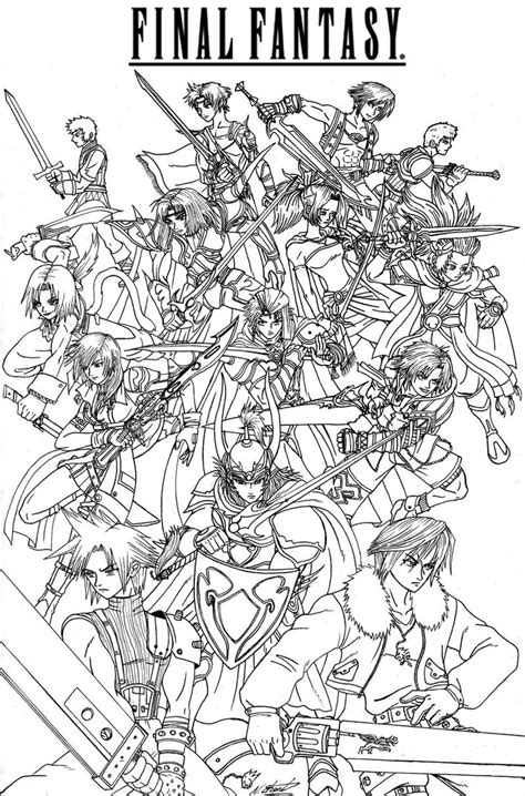 Final Fantasy Heroes By Taresh On Deviantart Coloriage Halloween A Imprimer Gratuitement Load In