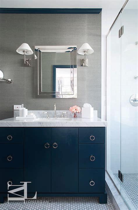 navy blue  gray bathrooms contemporary bathroom