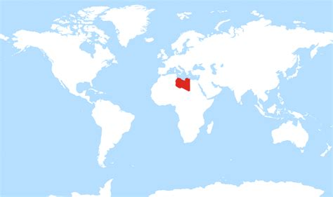 where is libya on the world map where is libya located on the world map