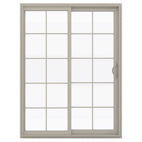 60 Patio Door Jeld Wen 60 In X 80 In V 2500 Series Vinyl Sliding Patio Door With Grids Thdjw181500192 The