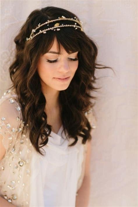 Wedding Hairstyles With Side Fringe by Fringe Wedding Hairstyles Hairstyles