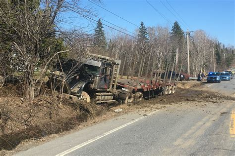 truck maine tire blowout causes northern maine log truck