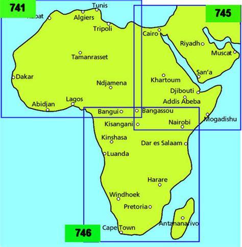 Wegenkaart   landkaart 745 Noordoost Afrika en Midden