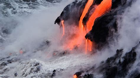 lava in kilauea hawaii volcano from bing bing wallpaper archive