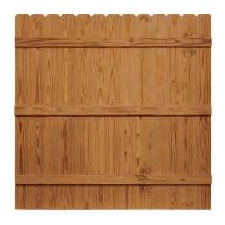 home depot wood fence 6 ft h x 6 ft w pressure treated cedar tone moulded