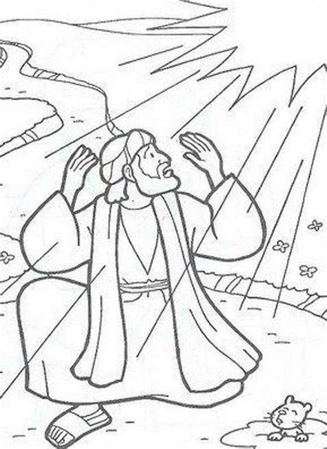 Pin Saul Conversion Coloring Pages Wwwbibleca On Pinterest Paul On The Road To Damascus Coloring Page