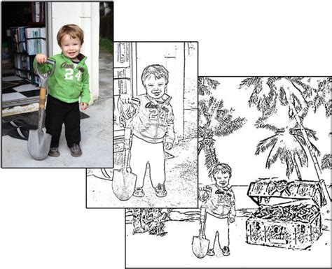 how to make coloring pages from photos how to make a coloring book 20 steps with pictures