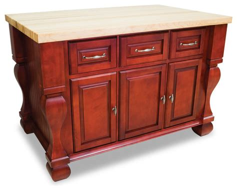 red kitchen cart island sonoma kitchen island dark red traditional kitchen islands and kitchen carts by inviting