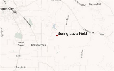 boring oregon map boring lava field mountain information