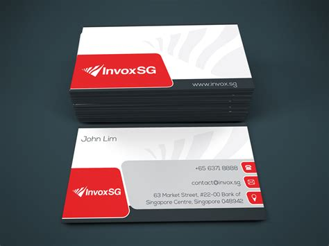 modern serious name card design by excatibur design modern serious financial name card design for a company