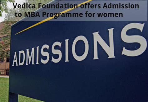 Mba Foundation Programme by Vedica Foundation Offers Admission To Mba Programme For