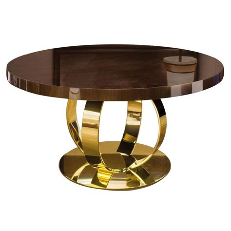 lacquered dining tables dom edizioni italian modern lacquered wood and brass