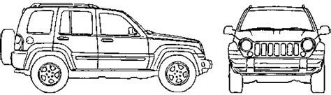 jeep liberty coloring pages 2007 jeep liberty suv blueprints free outlines