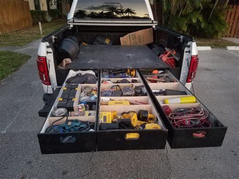 truck bed drawer system truck bed drawers thread show us your drawers ford