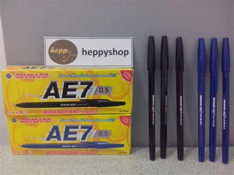 Standard Ballpoint Ae7 0 5 Biru 1 jual pulpen standard ae7 heppyshop heppy