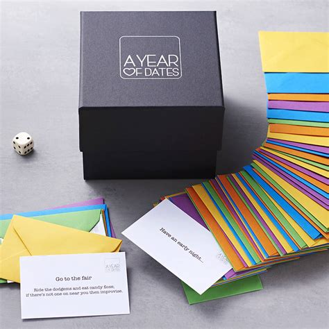 5 new year box a box of dates by a year of dates notonthehighstreet