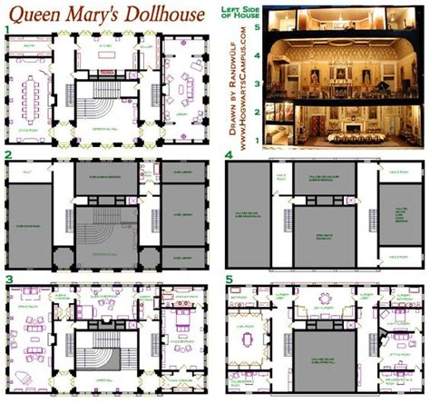 dollhouse floor plans queen mary s dollhouse floor plan pillars of