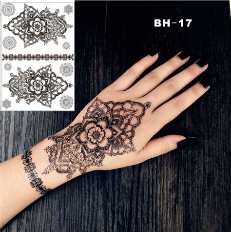 henna tattoo hand kaufen bh 17 drawing mandala black henna temporary