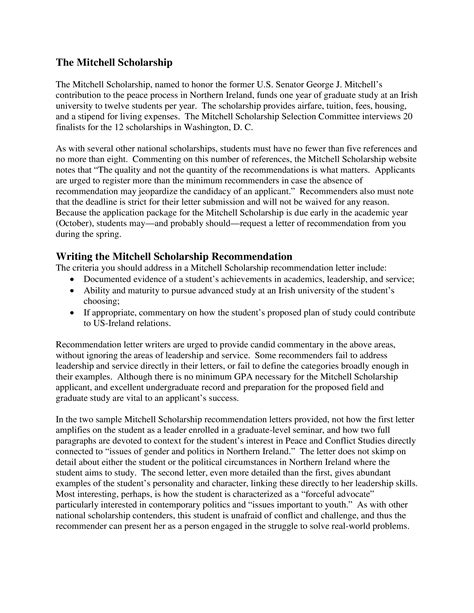 academic scholarship reference letter templates