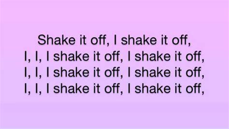 printable lyrics shake it off taylor swift shake it off lyrics youtube