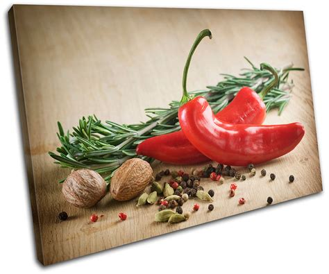 food kitchen red chili peppers single canvas wall art spices chili pepper food kitchen single canvas wall art