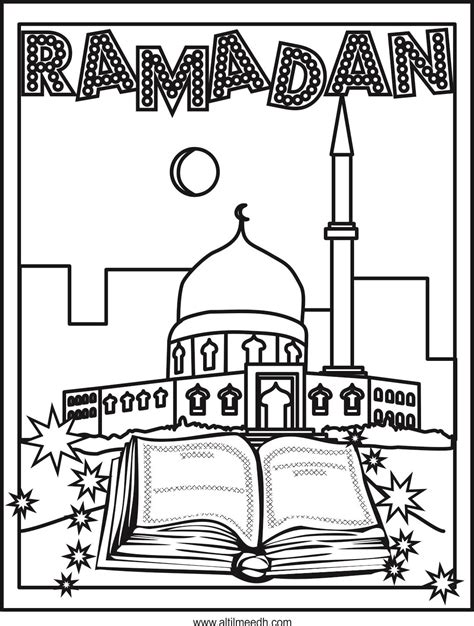 free coloring pages free printable eid greeting card for ramadan coloring page arabic playground