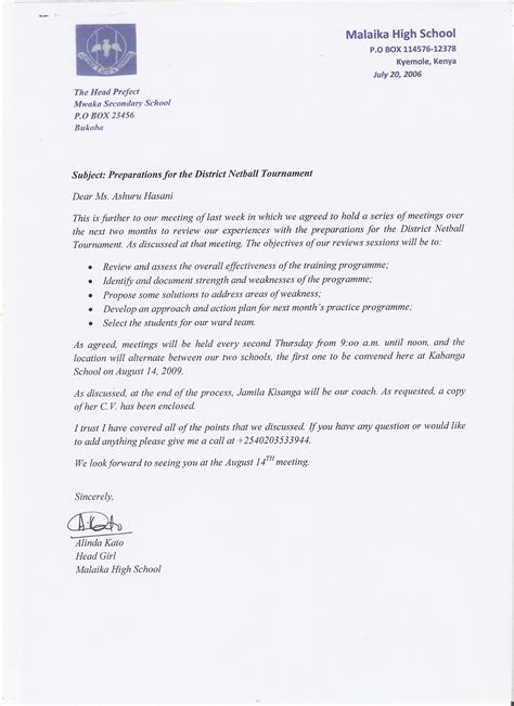 sle of formal communication letter unit writing for effective communication formal