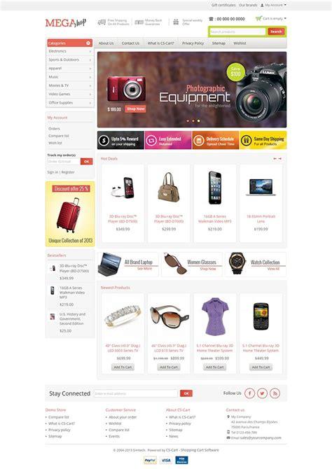 Mega Shop Responsive Cs Cart 4 X Template Mega Shop Template