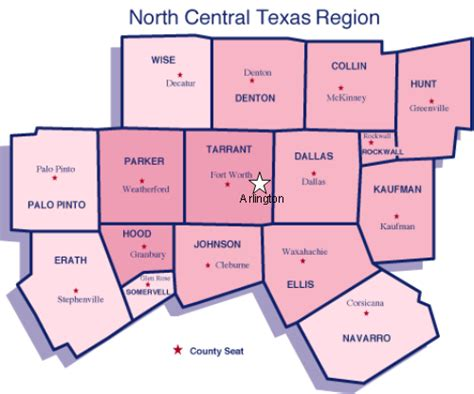 central texas map texas counties map my