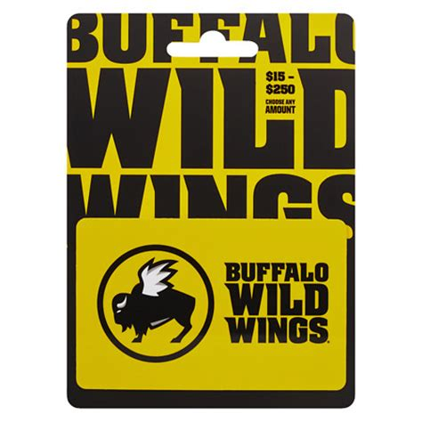 Buffalo Wild Wings Gift Card - buffalo wild wings non denominational gift card walgreens