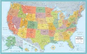 rand mcnally style united states usa us large wall map