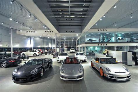into lighting Porsche Showroom, Johannesburg