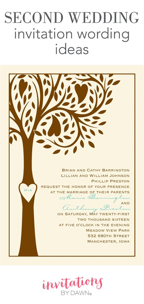 Wording Wedding Invitations by Second Wedding Invitation Wording Invitations By