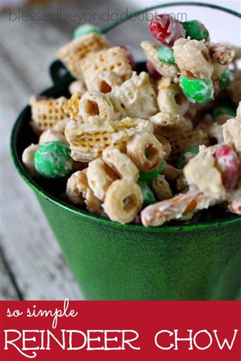 puppy chow recipe microwave reindeer chow
