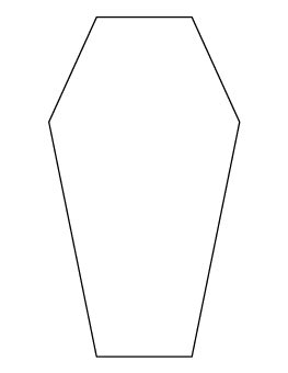 Coffin Pattern Patterns Templates For Felt Ornaments And Such Pinterest Patterns Coffin Cake Template