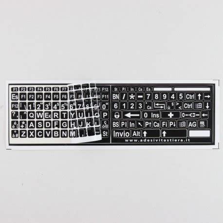 lettere per tastiera adesivi etichette tastiera grandi italiano fondo nero