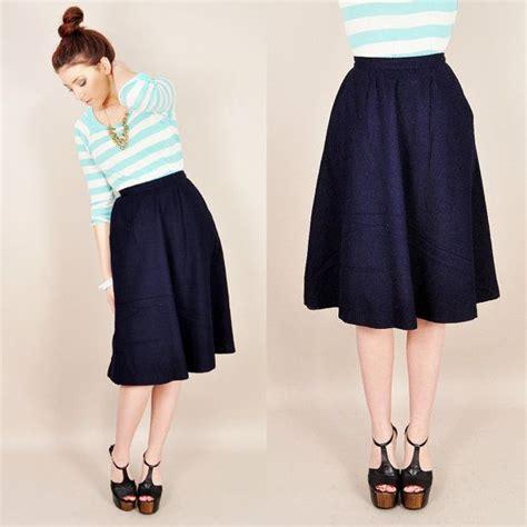 navy blue a line skirt dress