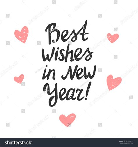 best wishes in new year best wishes in new year vector typography poster with