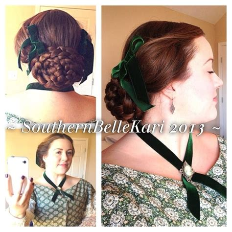 1860s hairstyles 1860 s hairstyle with flat oval braided bun quot puffed