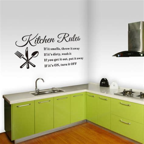 kitchen wall vinyl stickers diy removable vinyl quote wall sticker decal home mural decor kitchen ebay