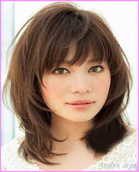 Medium Length Hairstyles 2017 With Bangs by Haircuts For Medium Length Hair 2017 Stylesstar