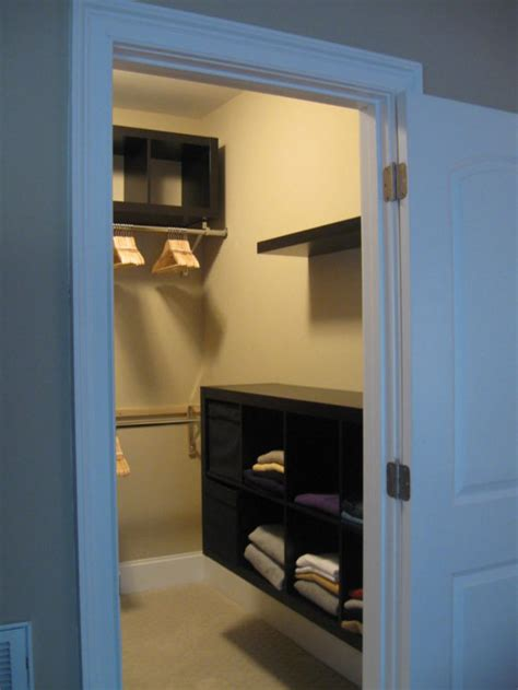 Closet Wall Shelves Interior Small Walk In Closet With Wire Hanging Shelves