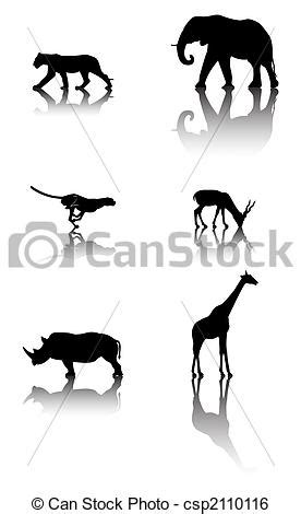 Fauna, conjunto, animales. Fauna, seis, animals