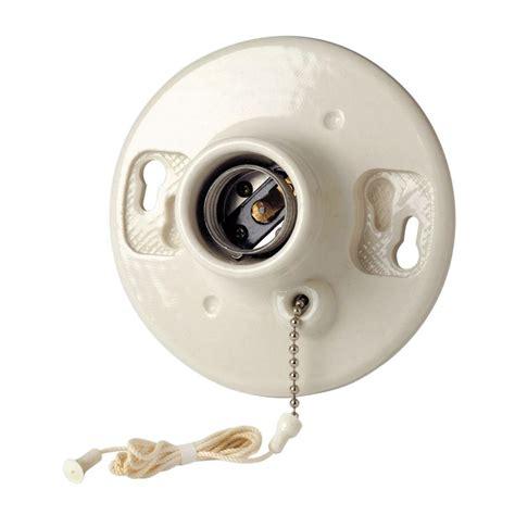 leviton porcelain l holder leviton pull chain ceiling lholder white 29816 c the