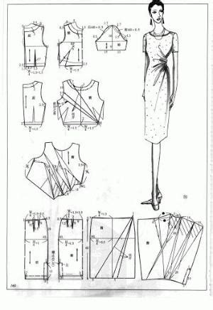 pattern note making method chinese method of pattern making darts on a bodice svet