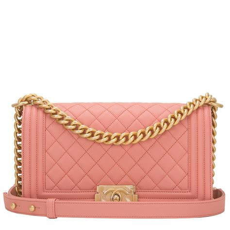 Chanel Anak Pink K chanel powder pink quilted caviar medium boy bag world s best