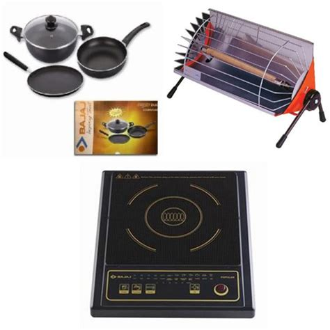 induction heater price in india buy combo of bajaj popular induction cooktop minor room heater duo 3 pcs cookware set