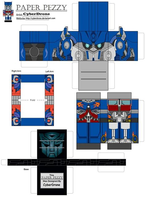 Minecraft Papercraft Target - paperpezzy optimus prime lam by cyberdrone on deviantart